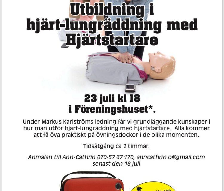 HLR-utbildning 23 juli