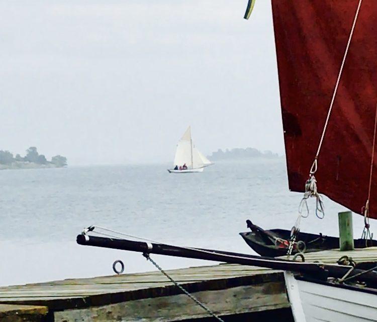 14 juli 2018 – Med träbåtar på Hästholmen